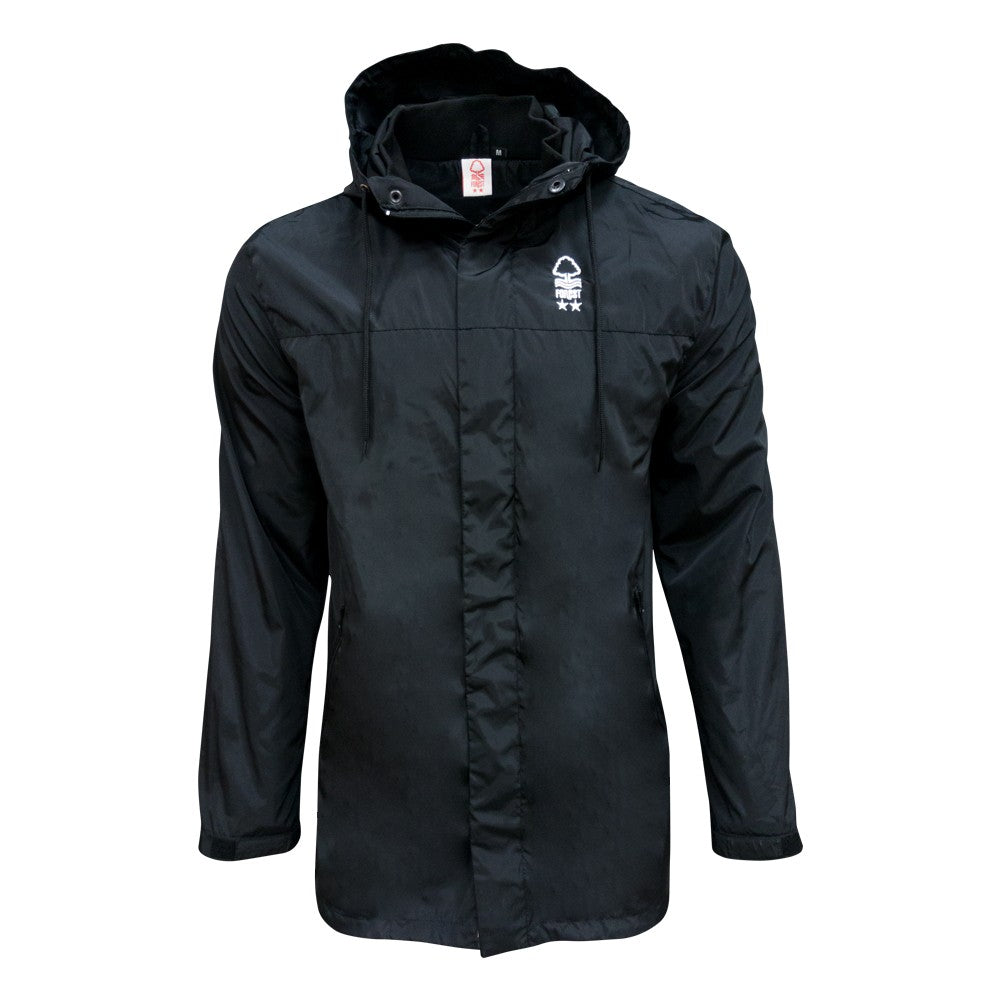 NFFC Mens Black Car Jacket - Nottingham Forest