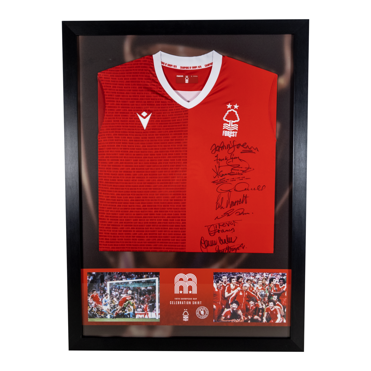 NFFC Signed and Framed Celebration Shirt