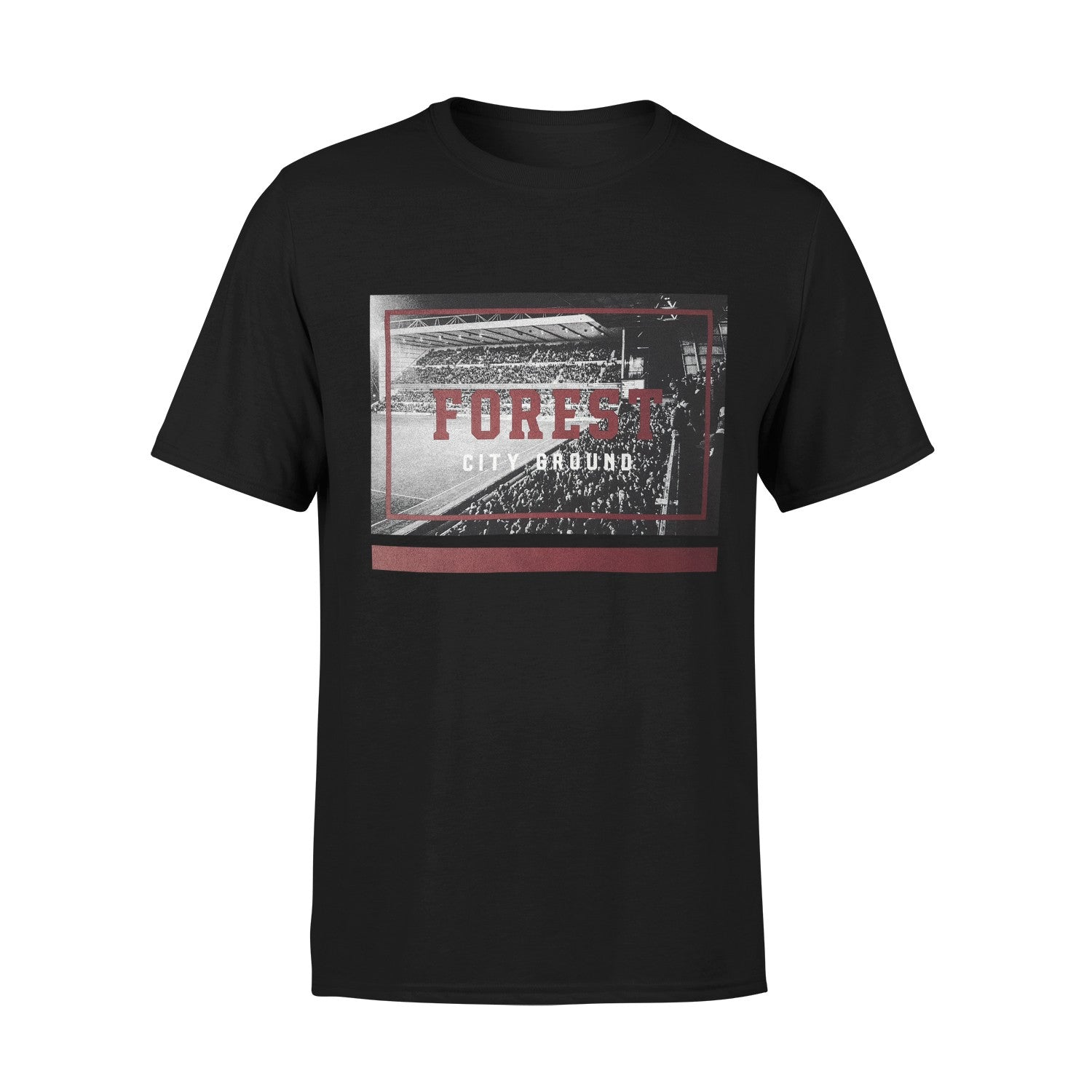 NFFC Junior Black City Ground T-Shirt - Nottingham Forest