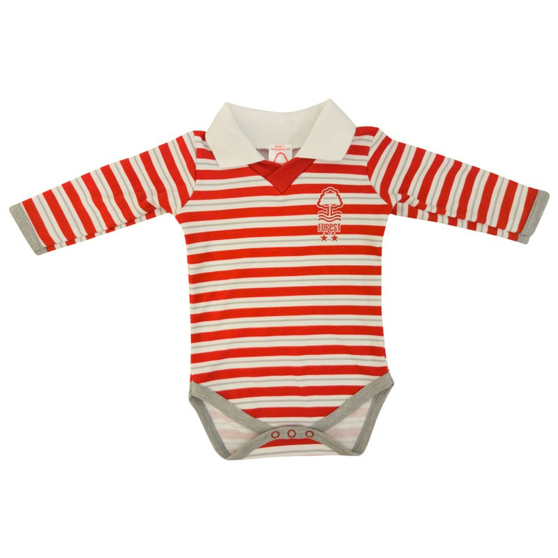 NFFC Baby Striped Bodysuit - Nottingham Forest
