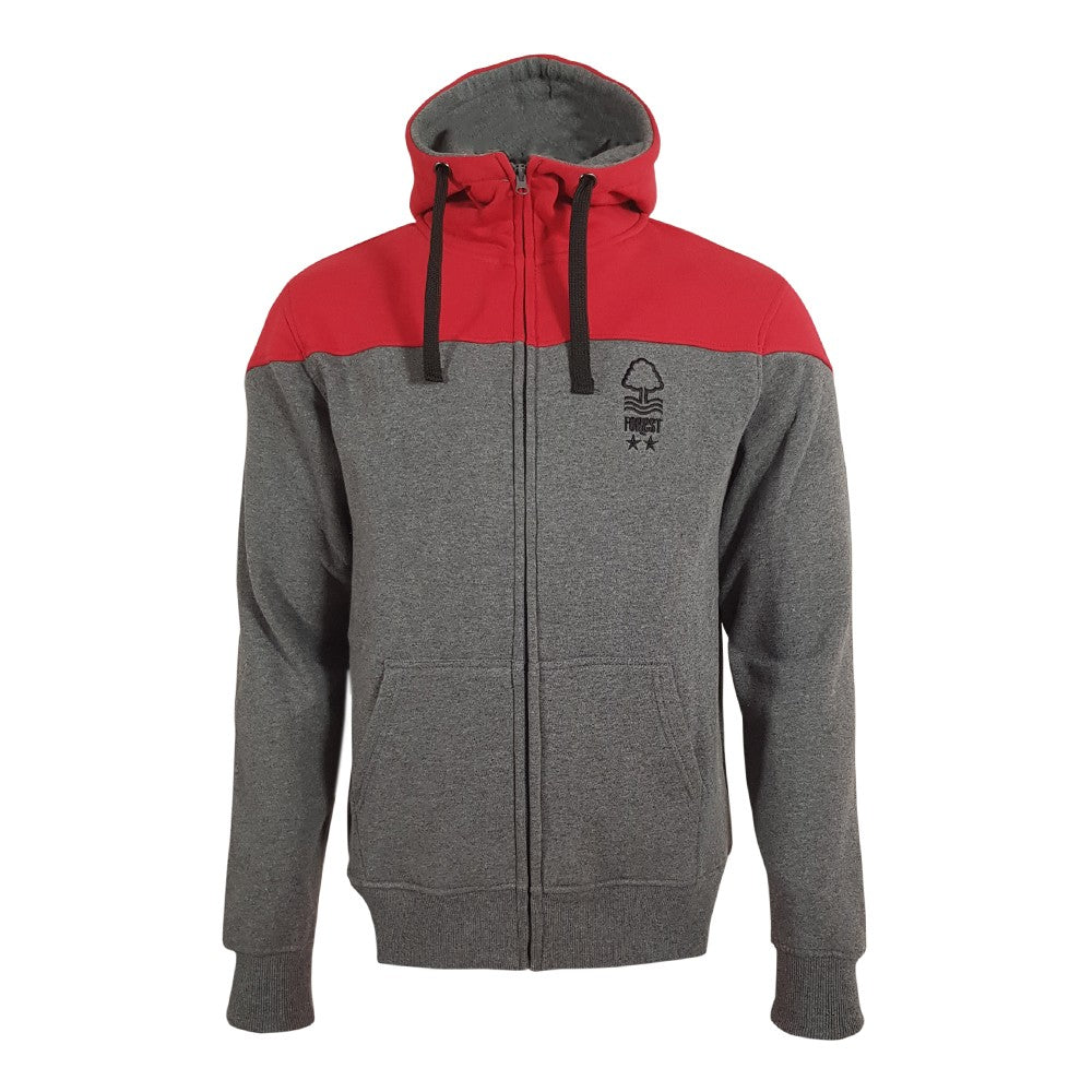 NFFC Mens Colour Block Hoodie - Nottingham Forest