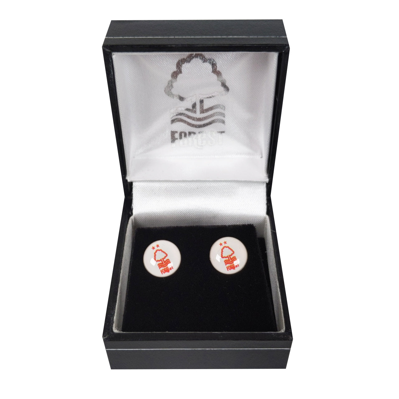NFFC Colour Crest Earings - Pair - Nottingham Forest