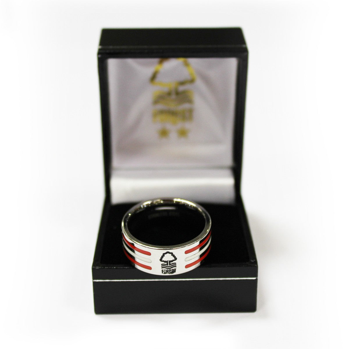 NFFC Colour Stripe Crest Ring - Nottingham Forest