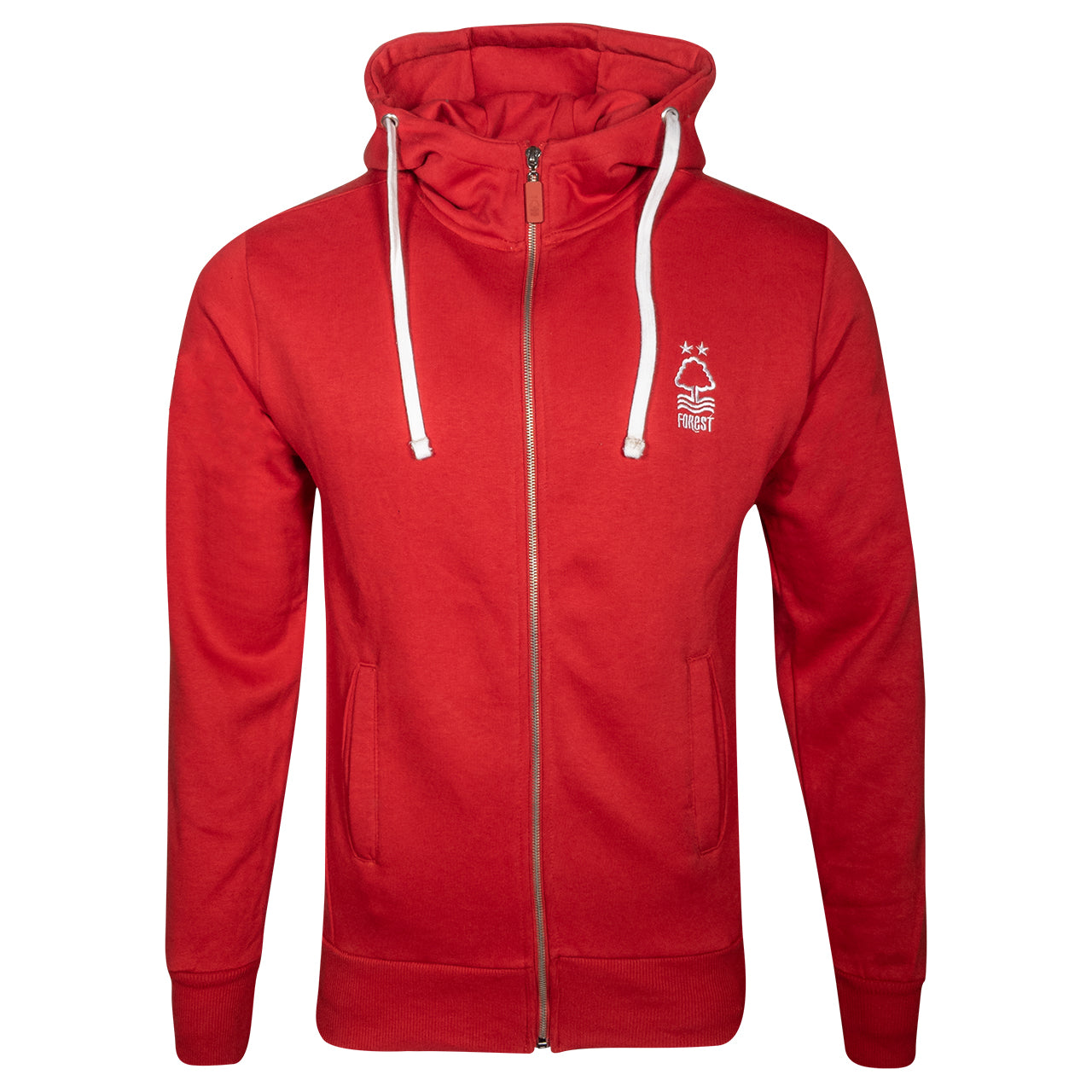 NFFC Mens Red Essential Zip Hoodie
