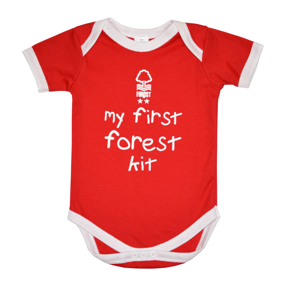 NFFC Baby Red Bodysuit