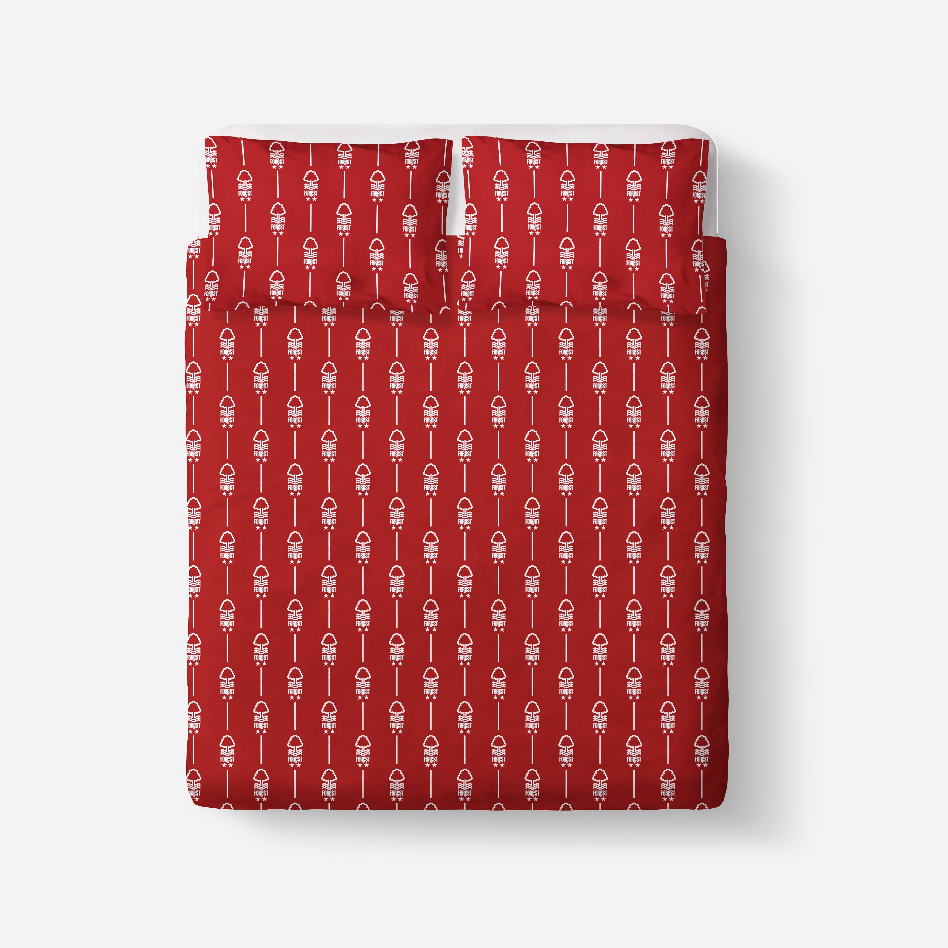 NFFC Red Pinstripe & Crest Double Duvet