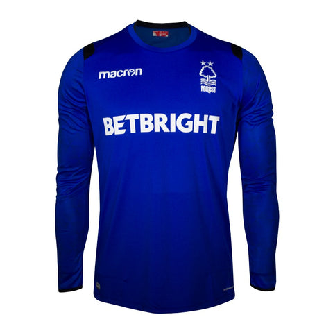 NFFC Mens Blue Goalkeeper Shirt 2018/19 - Nottingham Forest