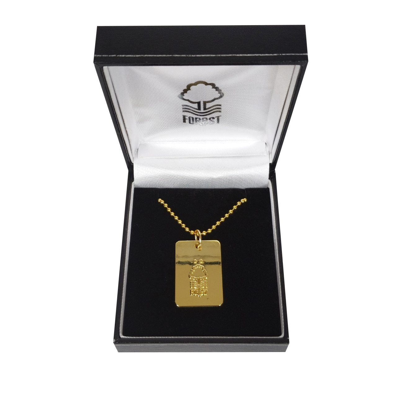 NFFC Gold Plated Crest Dog Tag and Chain