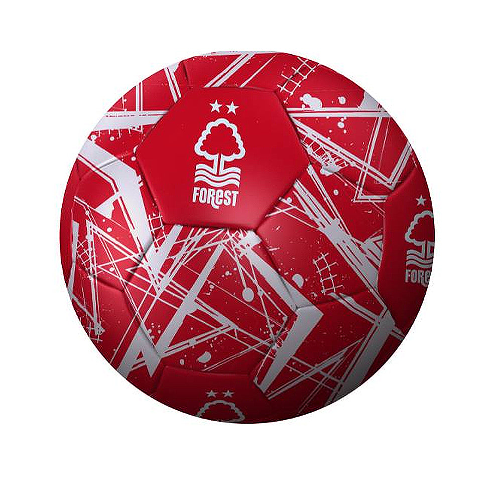 NFFC Red Graffiti Football - Size 5