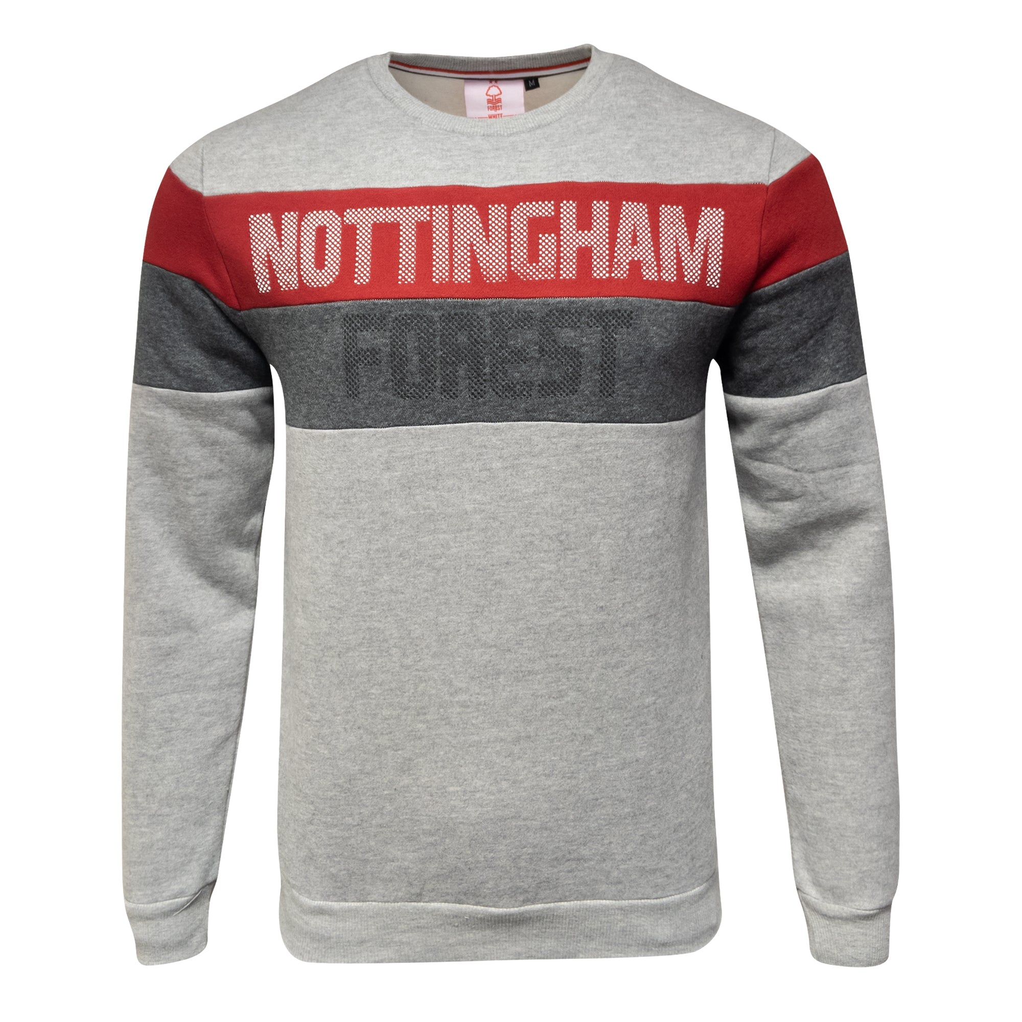 NFFC Mens Grey Banded Crew Neck Sweat