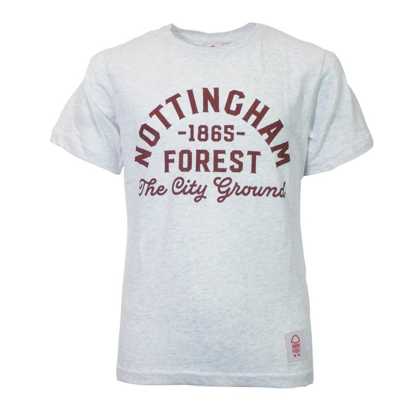 NFFC Junior Burgundy Text T-Shirt - Nottingham Forest