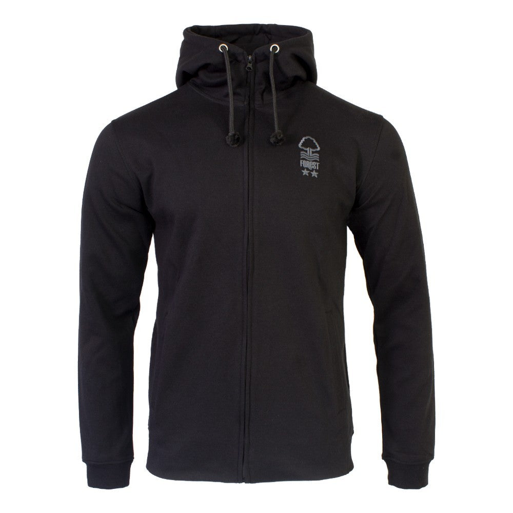 NFFC Junior Black Full Zip Hoodie - Nottingham Forest