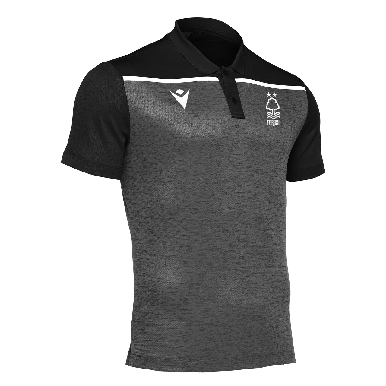 NFFC Mens Black Jumeirah Polo