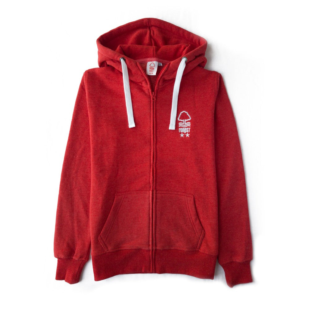 NFFC Girls Red Marl Hoodie - Nottingham Forest
