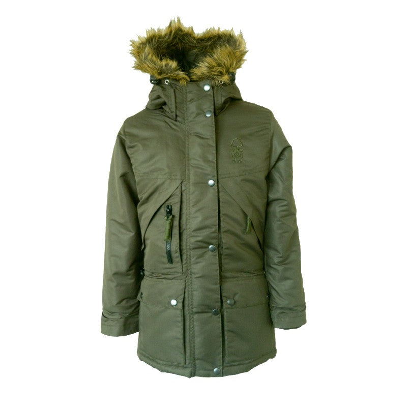 NFFC Womens Green Parka Jacket