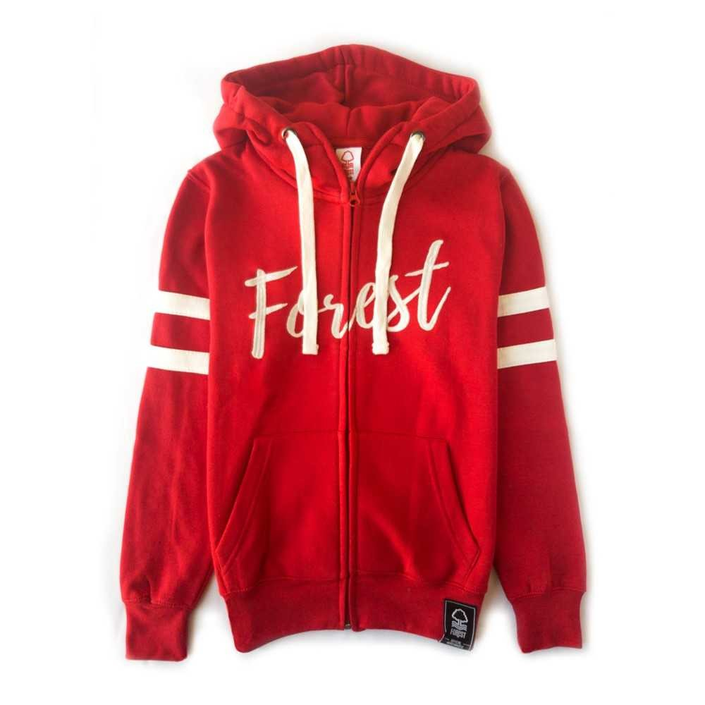NFFC Girls Red Forest Zip Hoodie - Nottingham Forest