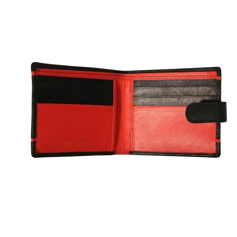NFFC Black Double Striped Boxed Wallet - Nottingham Forest