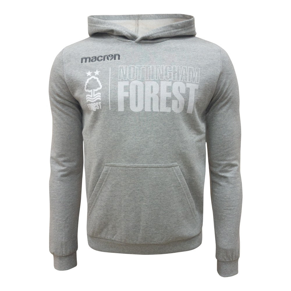 NFFC Mens Grey Fan Hoodie 18/19 - Nottingham Forest