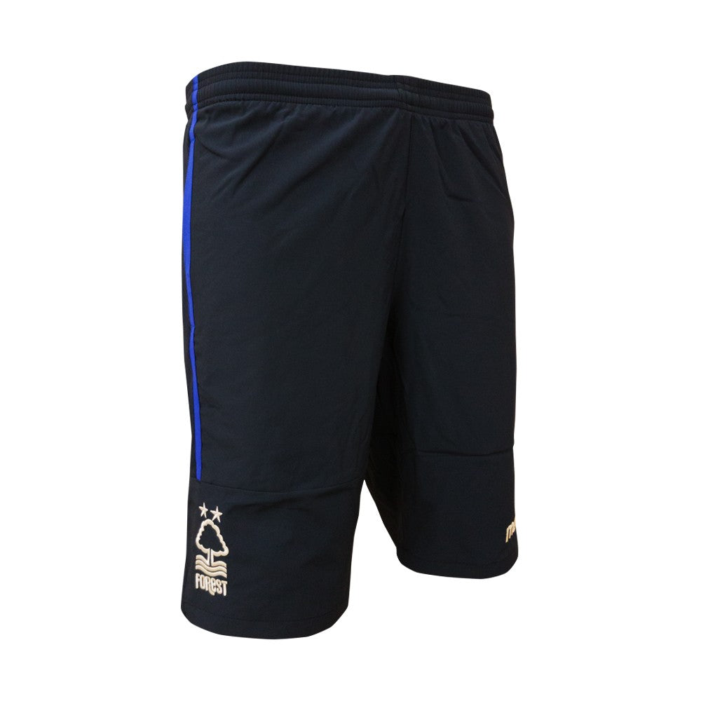 NFFC Junior Navy Bermuda Zip Travel Shorts 18/19 - Nottingham Forest