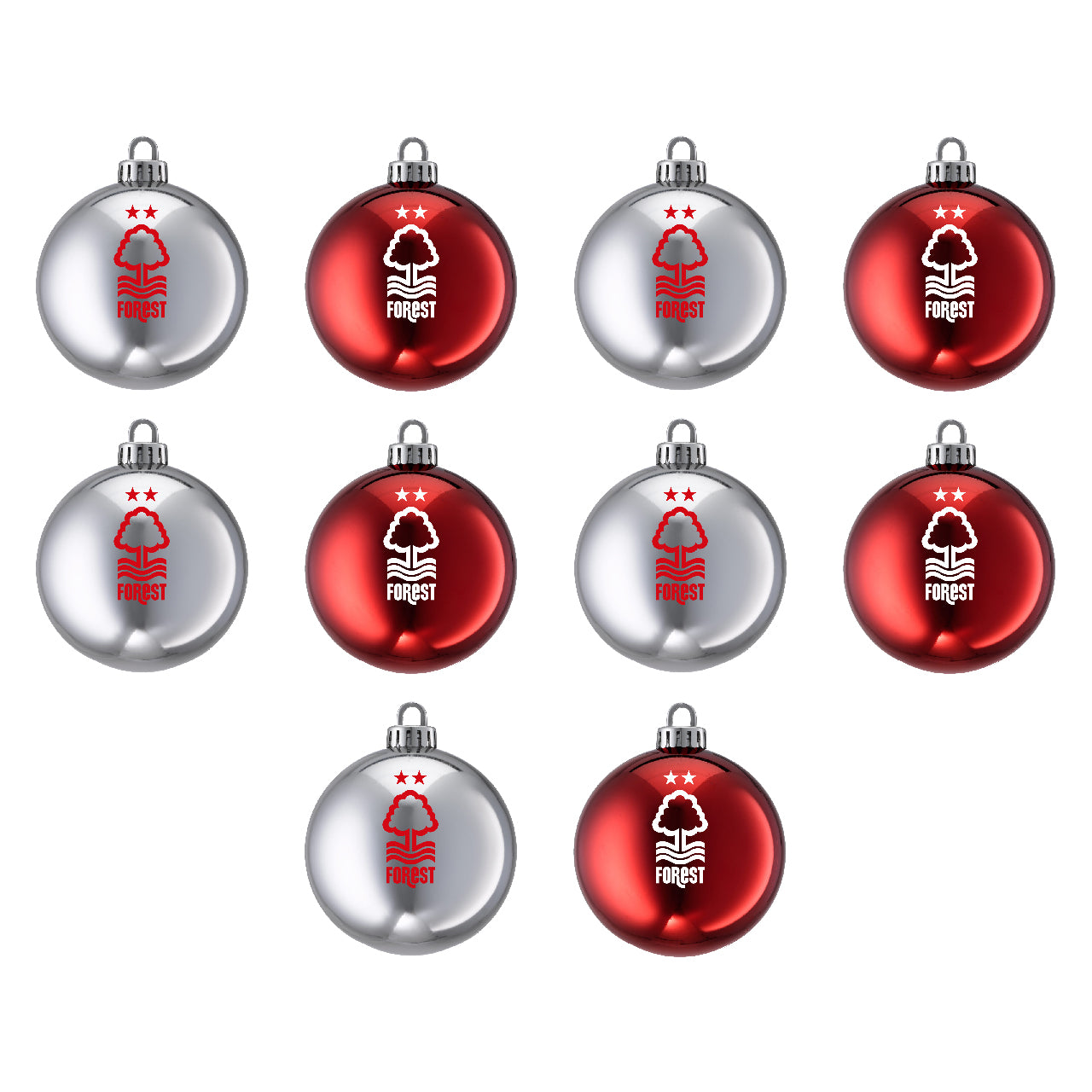 NFFC 10 Pack Mini 3cm Baubles
