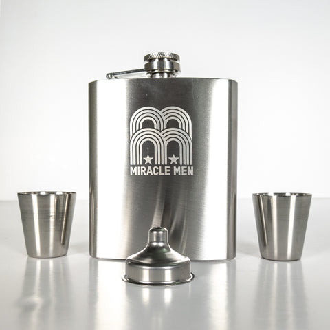 NFFC Hip Flask & Shots Cup Box Set