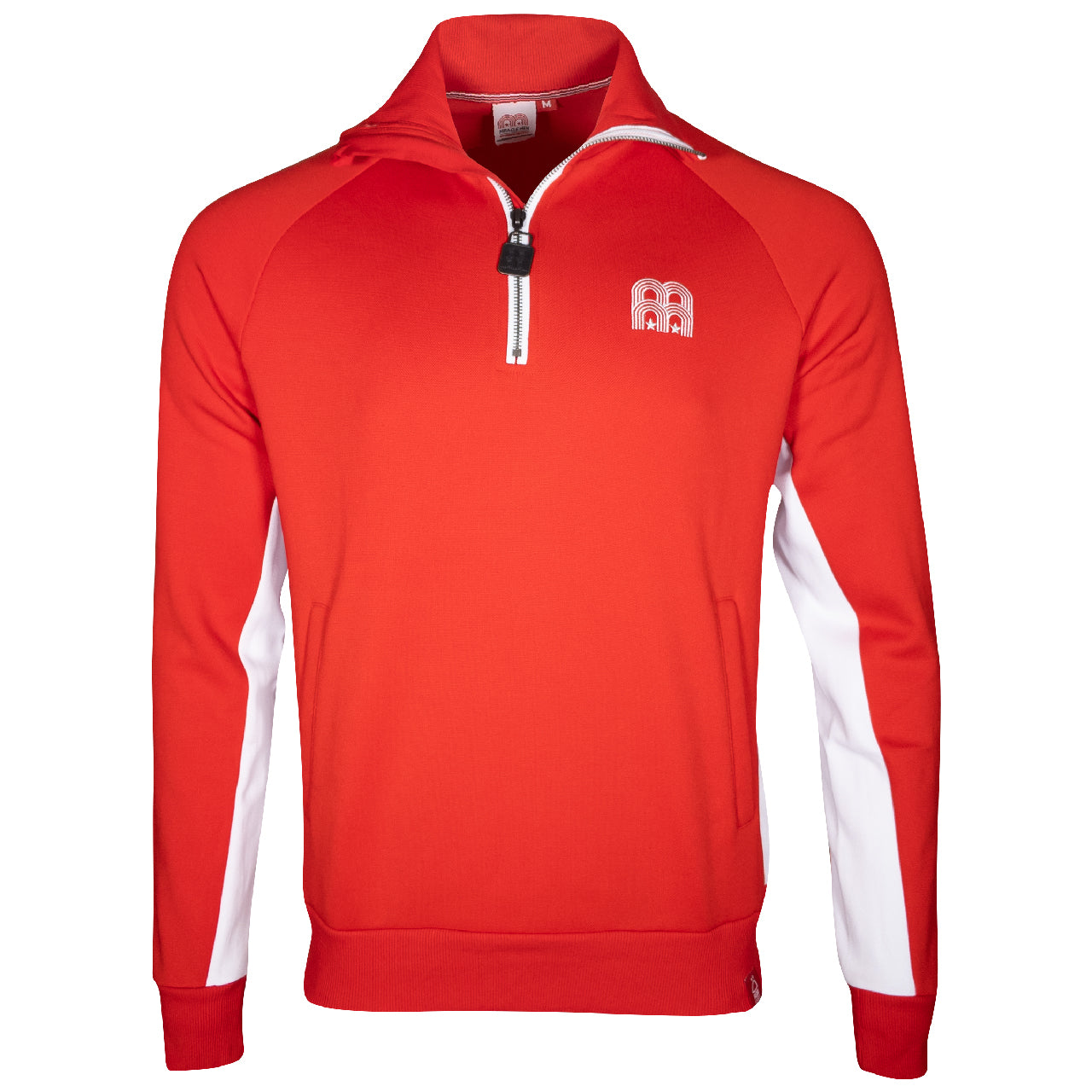 NFFC Mens Red 1/4 Zip Funnel Neck