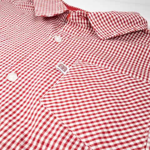 NFFC Mens Red Gingham Shirt