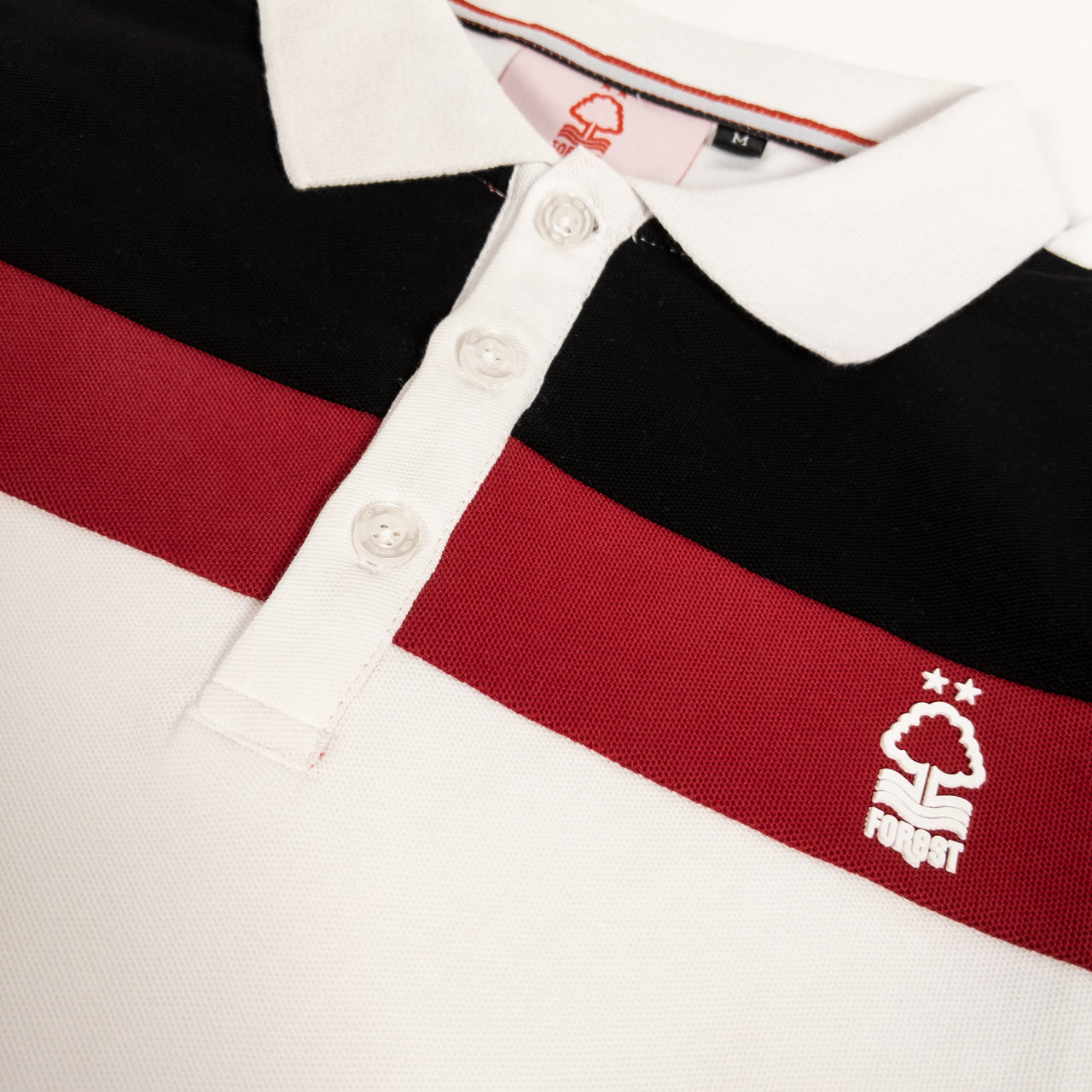 NFFC Mens White 3 Panel Polo