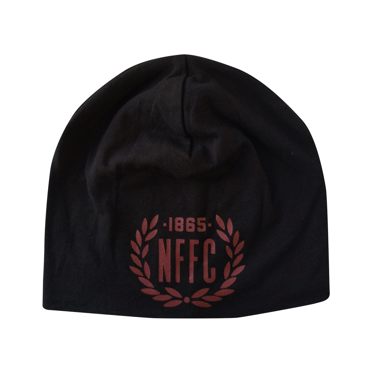 NFFC Adult Black Cotton Beanie