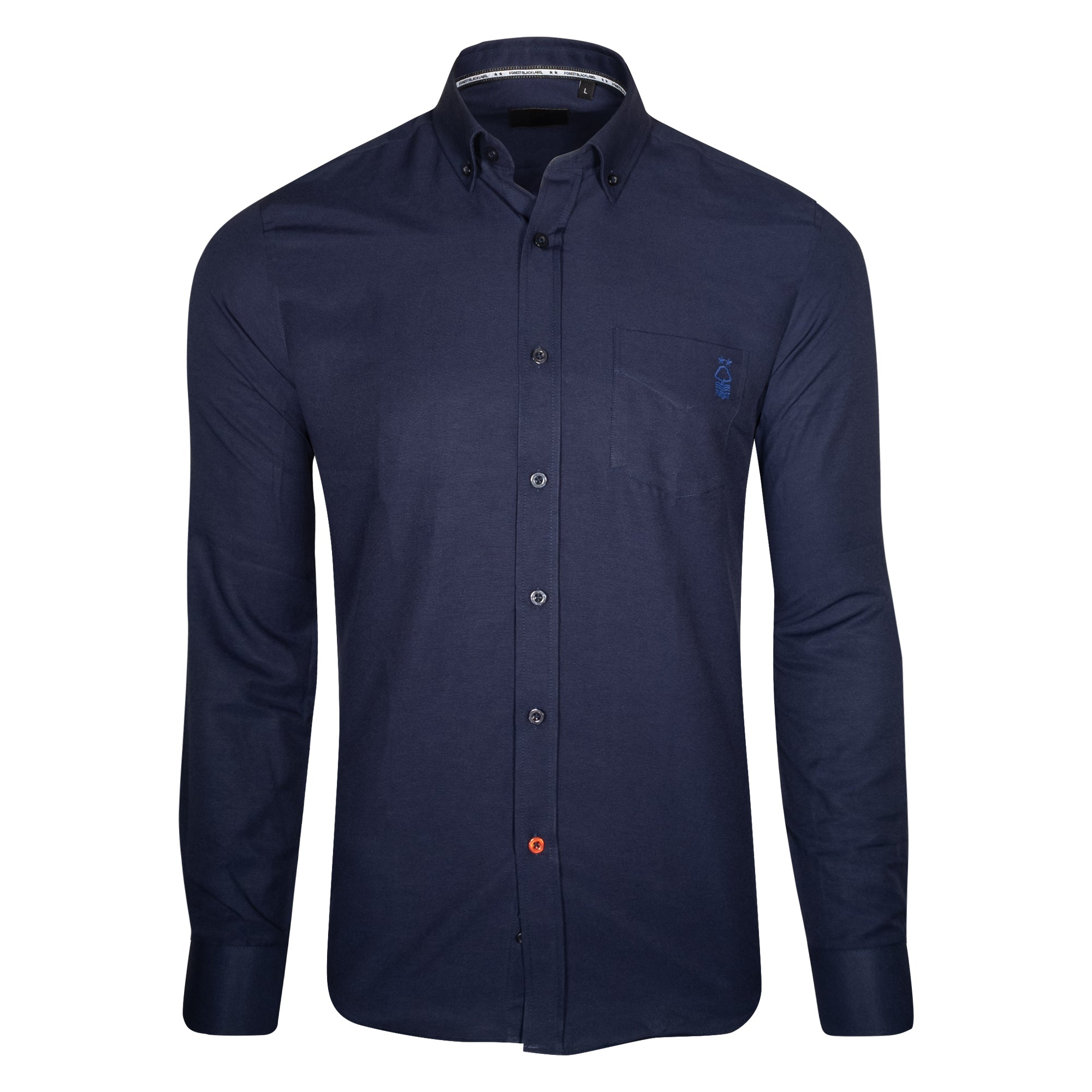 NFFC Mens Navy Chambray Longsleeve Shirt