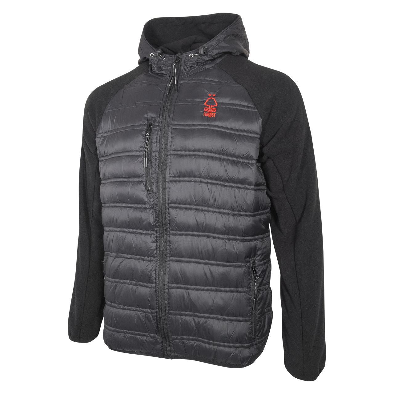 NFFC Mens Black Essential Downton Jacket