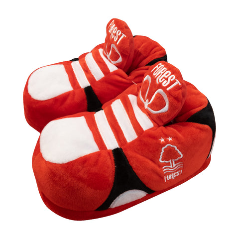 NFFC Adult Plush Novelty Boot Slippers - Nottingham Forest