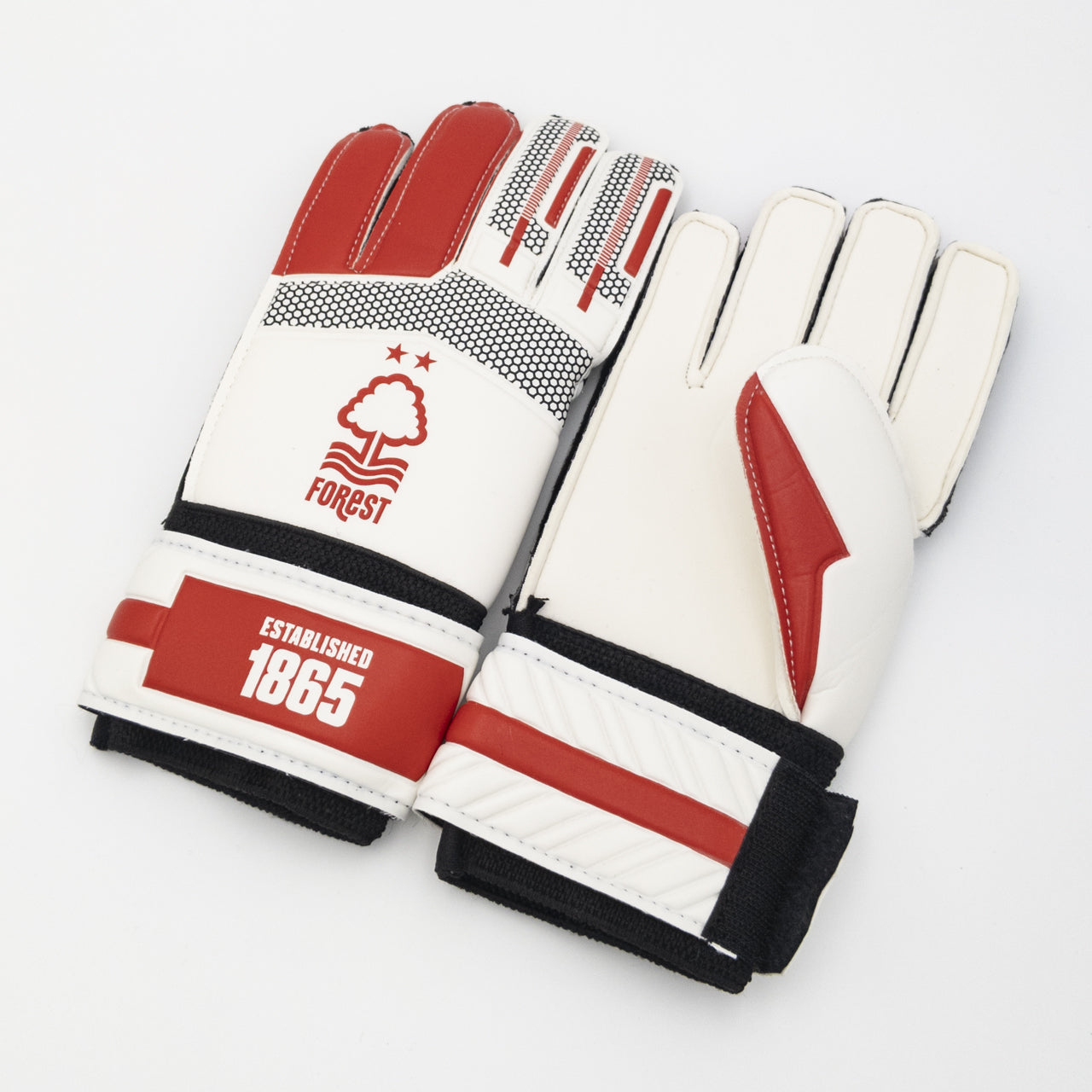 NFFC Red and White Goalkeeper Gloves
