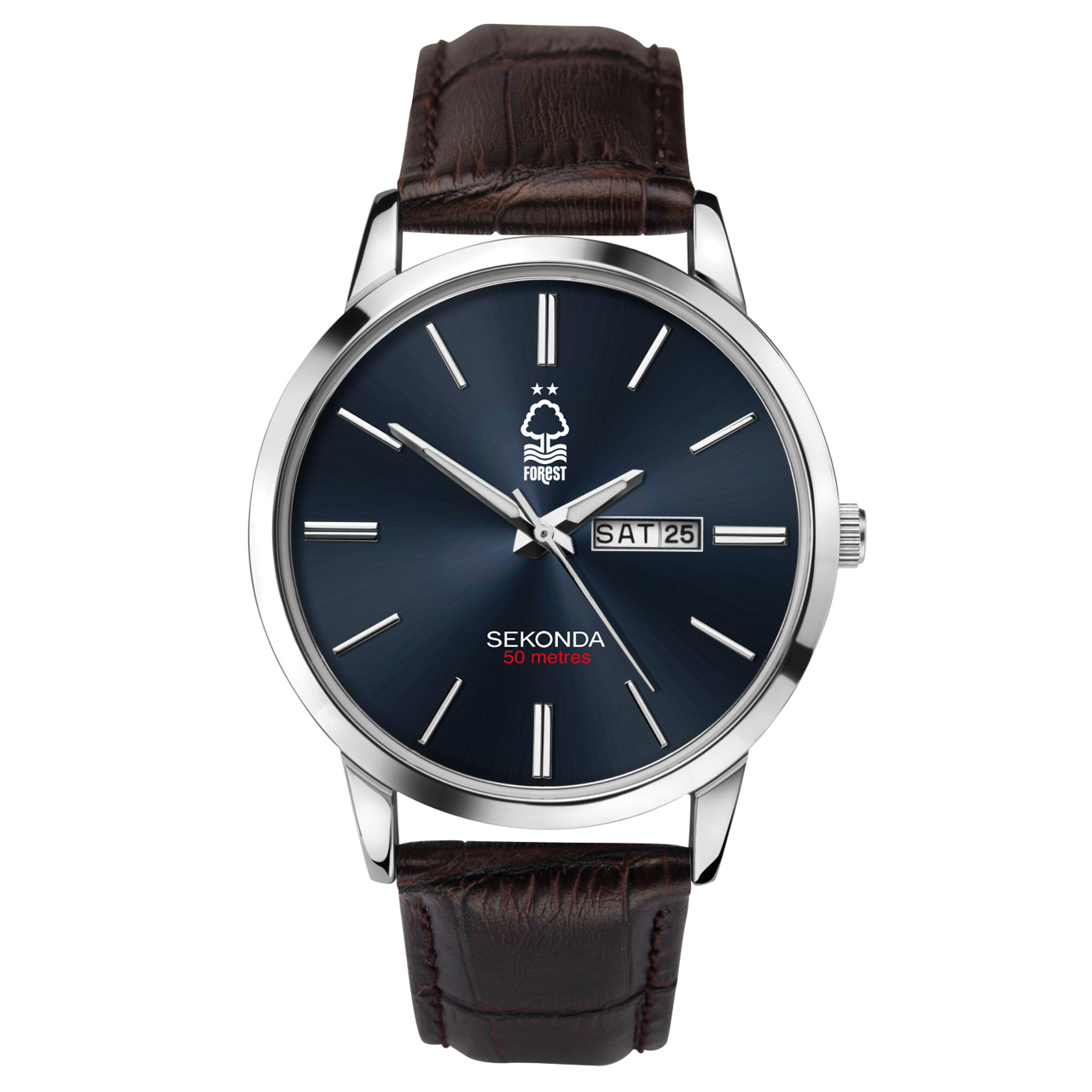 NFFC Sekonda Leather Strap Watch