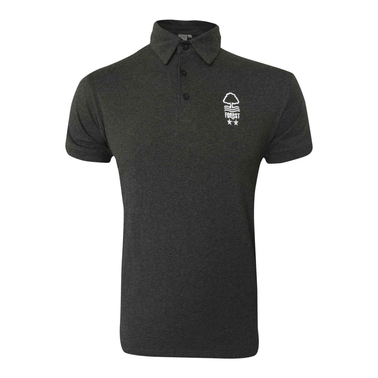 NFFC Mens Black Marl Polo