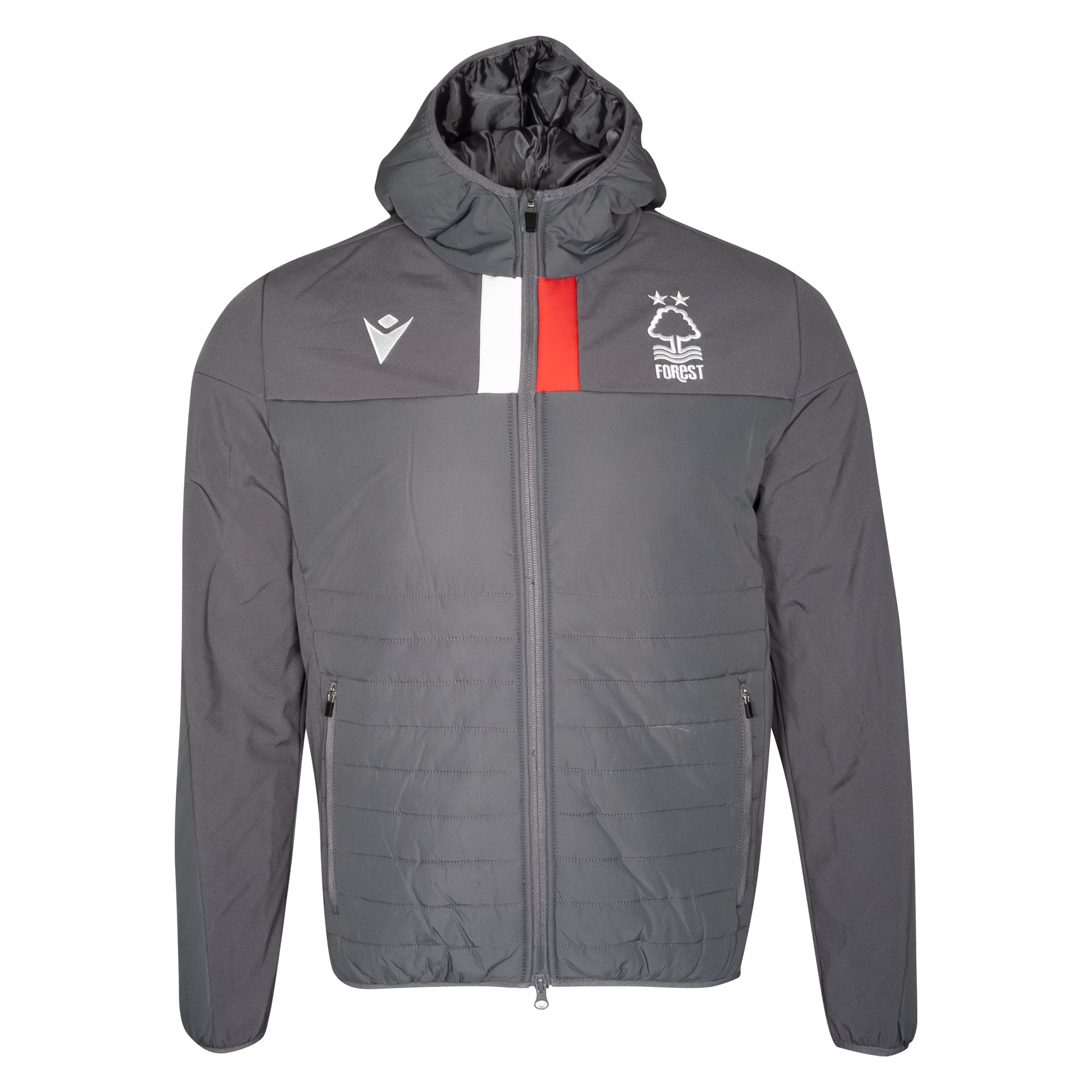 NFFC Junior Grey Staff Bomber Jacket 19/20