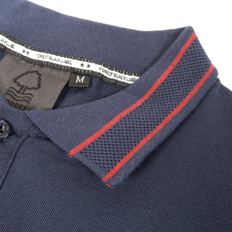 NFFC Mens Navy Waffle Collar Polo