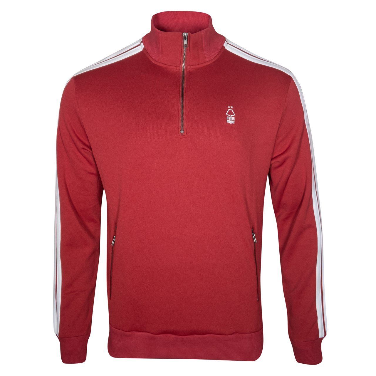 NFFC Junior Red Striped Sleeve Half Zip