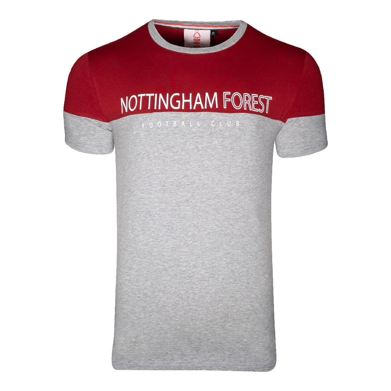 NFFC Mens Grey Marl Contrast Shoulder T-Shirt
