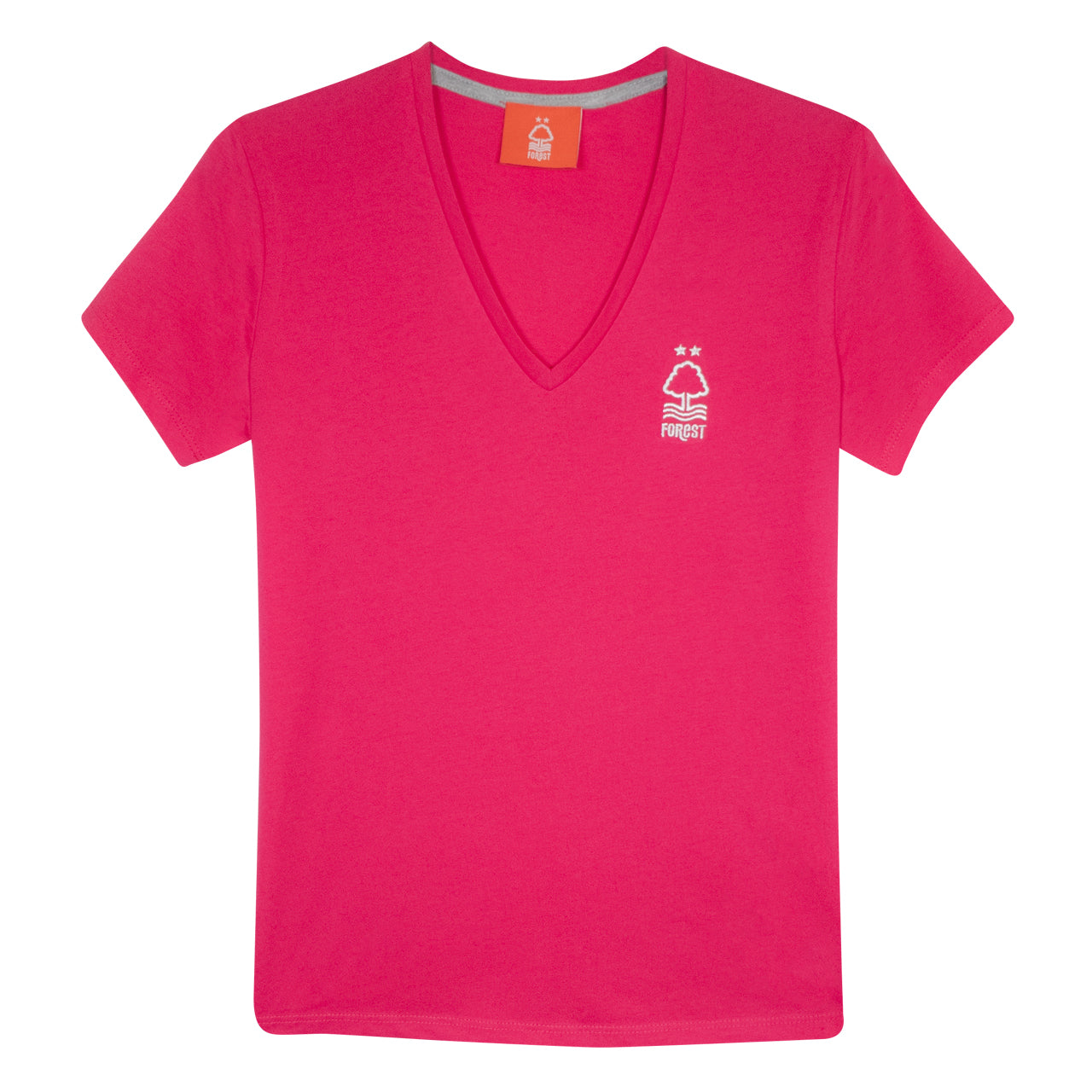 NFFC Women's Pink V-Neck T-Shirt