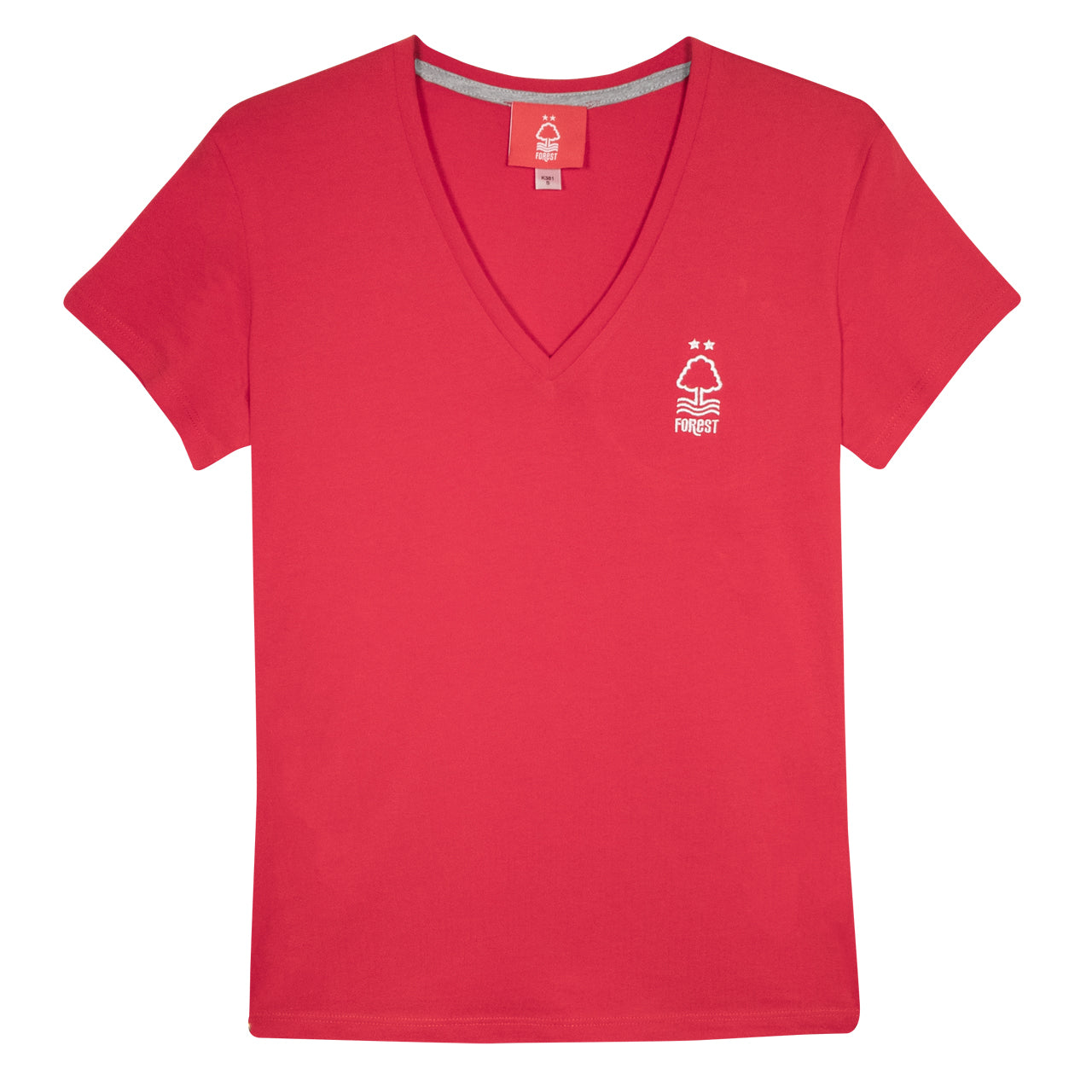 NFFC Women's Red V-Neck T-Shirt