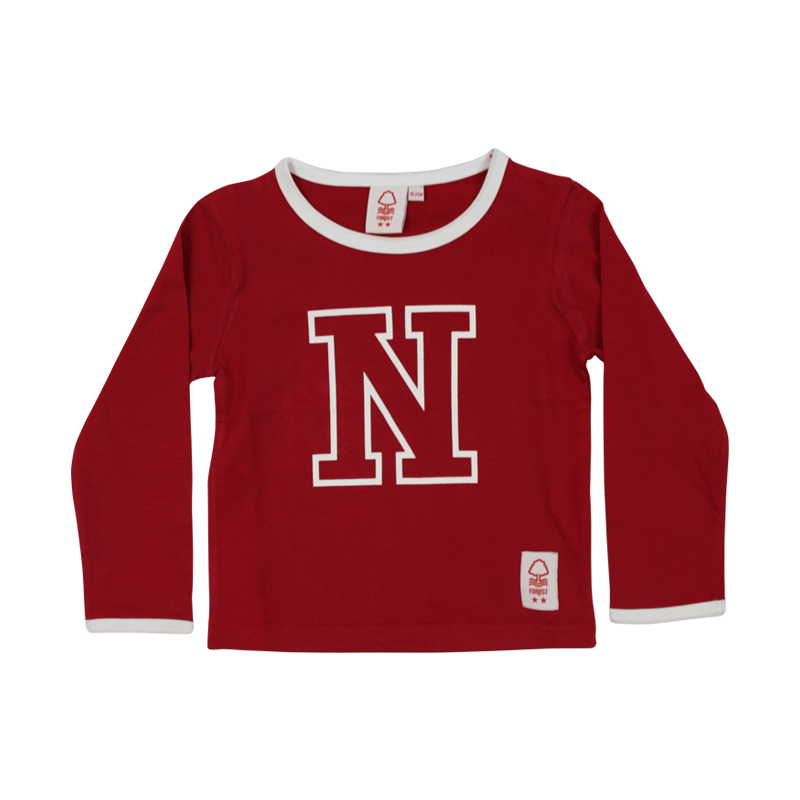 NFFC Infant Letter Long Sleeve Top - Nottingham Forest
