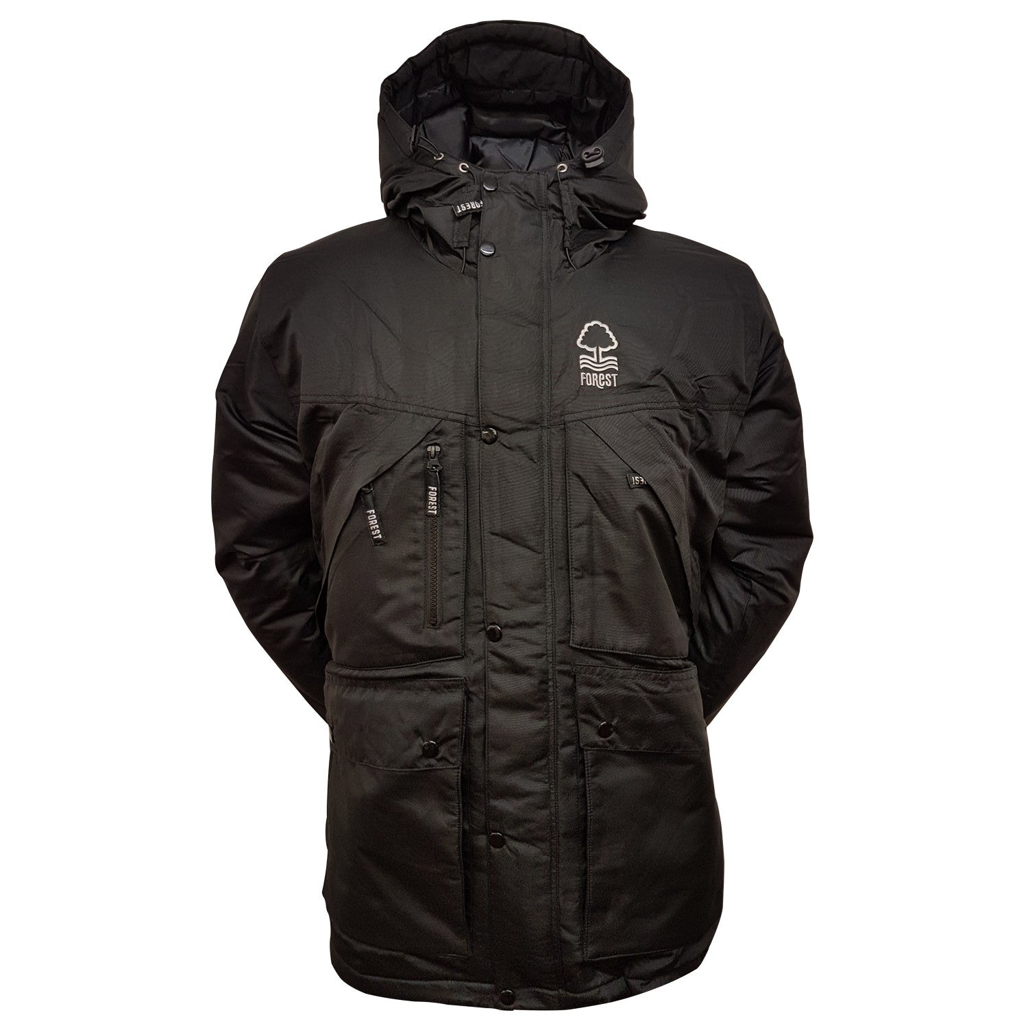 NFFC Junior Black Parka Jacket - Nottingham Forest