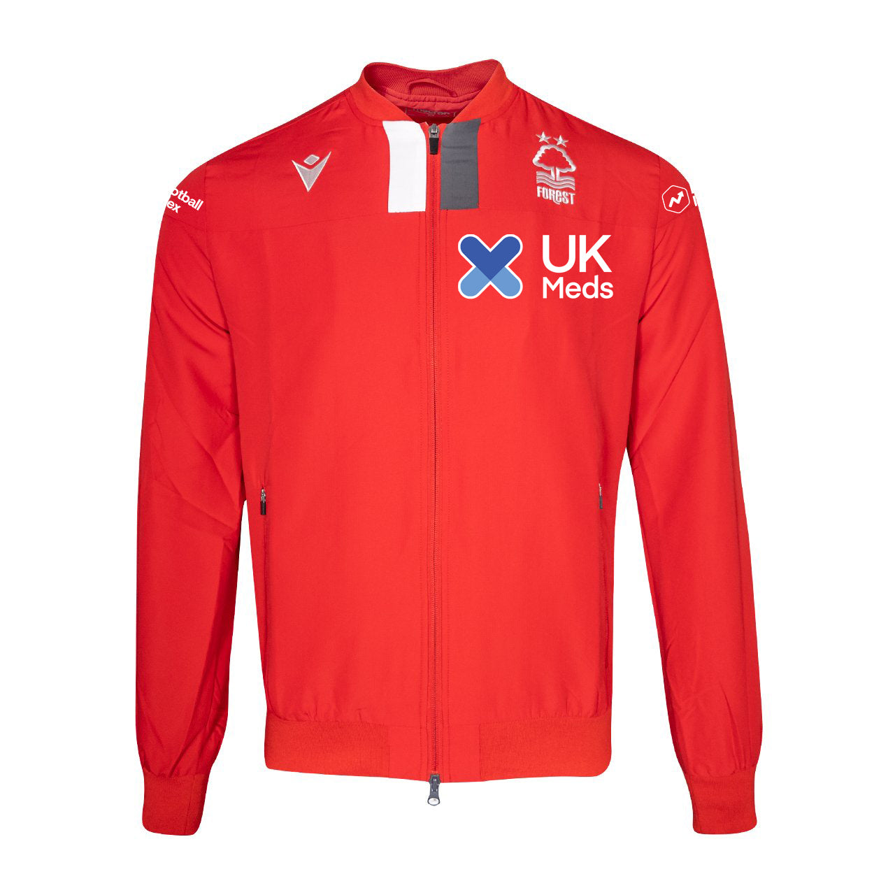 NFFC Mens Red Player Full Zip Training Top (Sponsored)