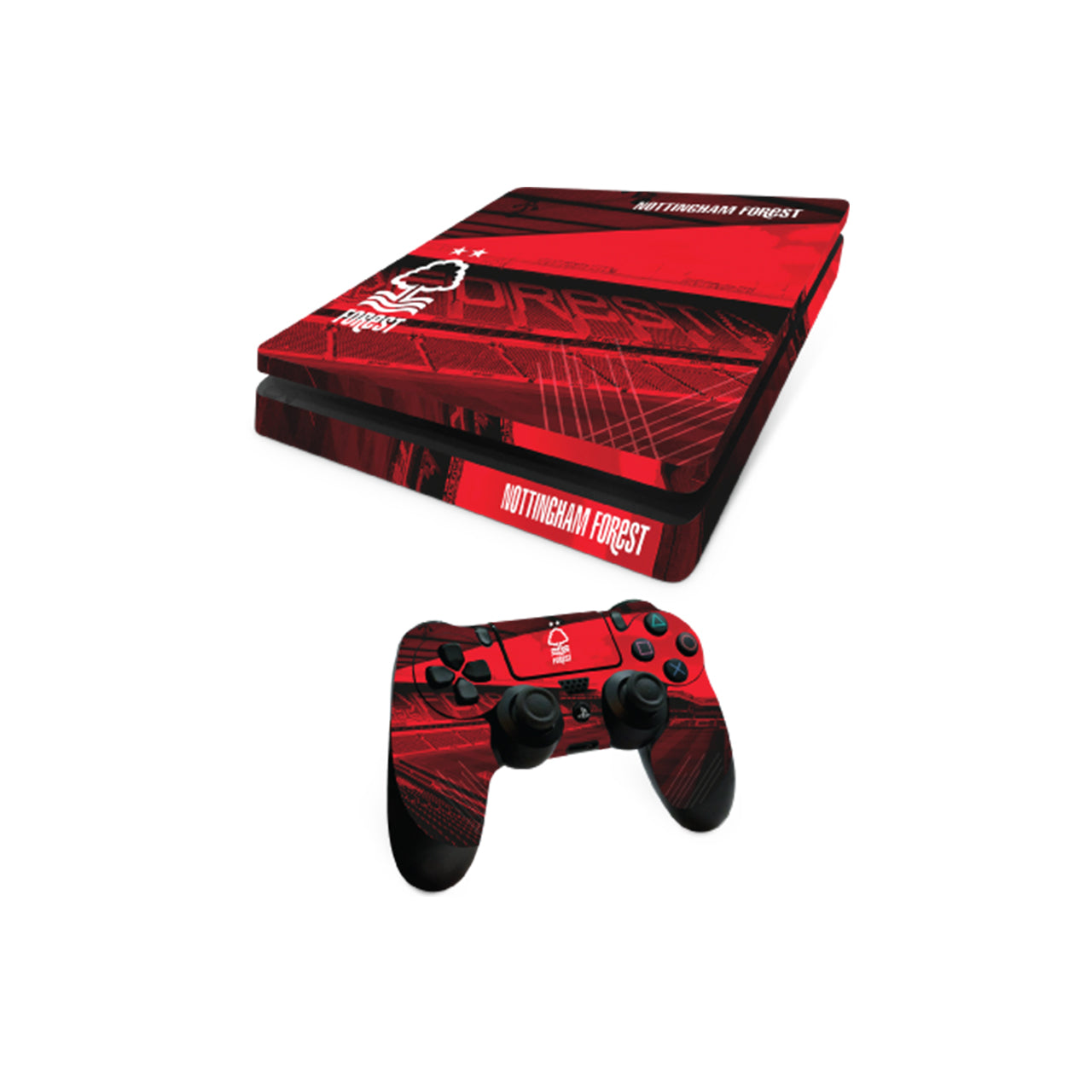 NFFC PS4 Slim Console and Controller Skin Bundle - Nottingham Forest