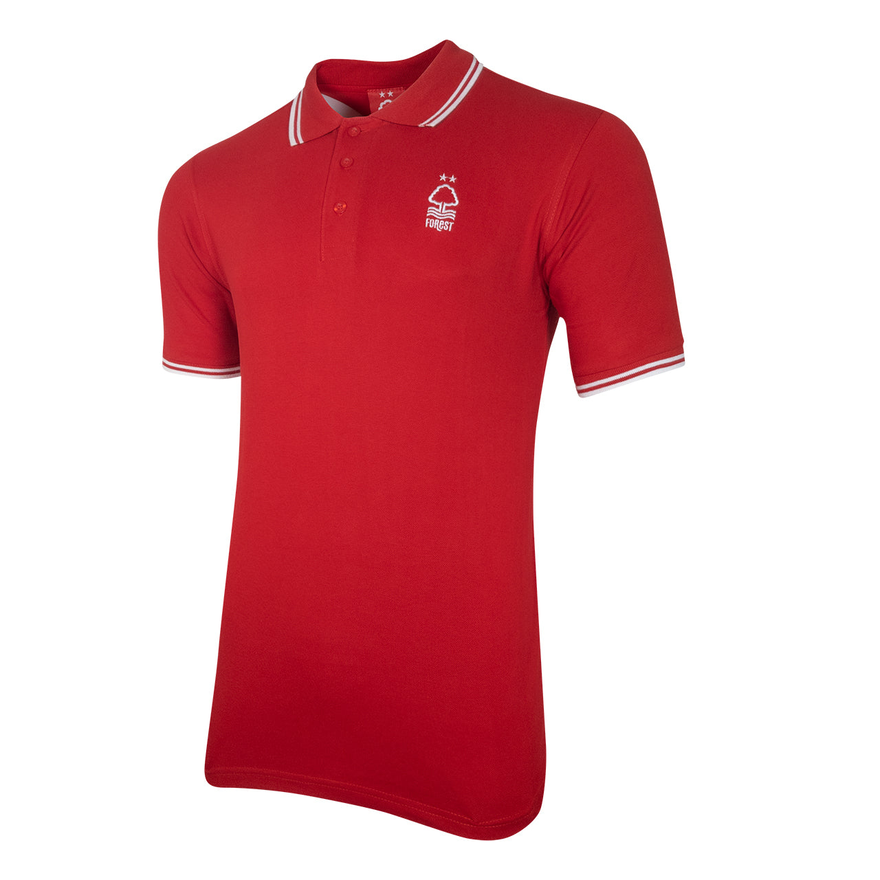 NFFC Mens Red Double Tipped Essential Polo