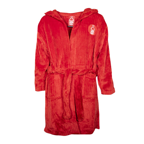 NFFC Junior Red Fleece Hooded Dressing Gown