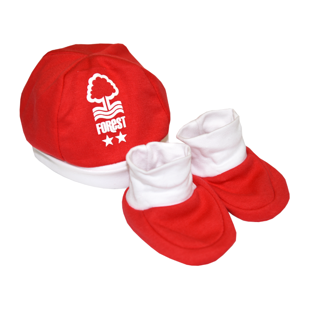 NFFC Baby Hat and Boot Set - Nottingham Forest