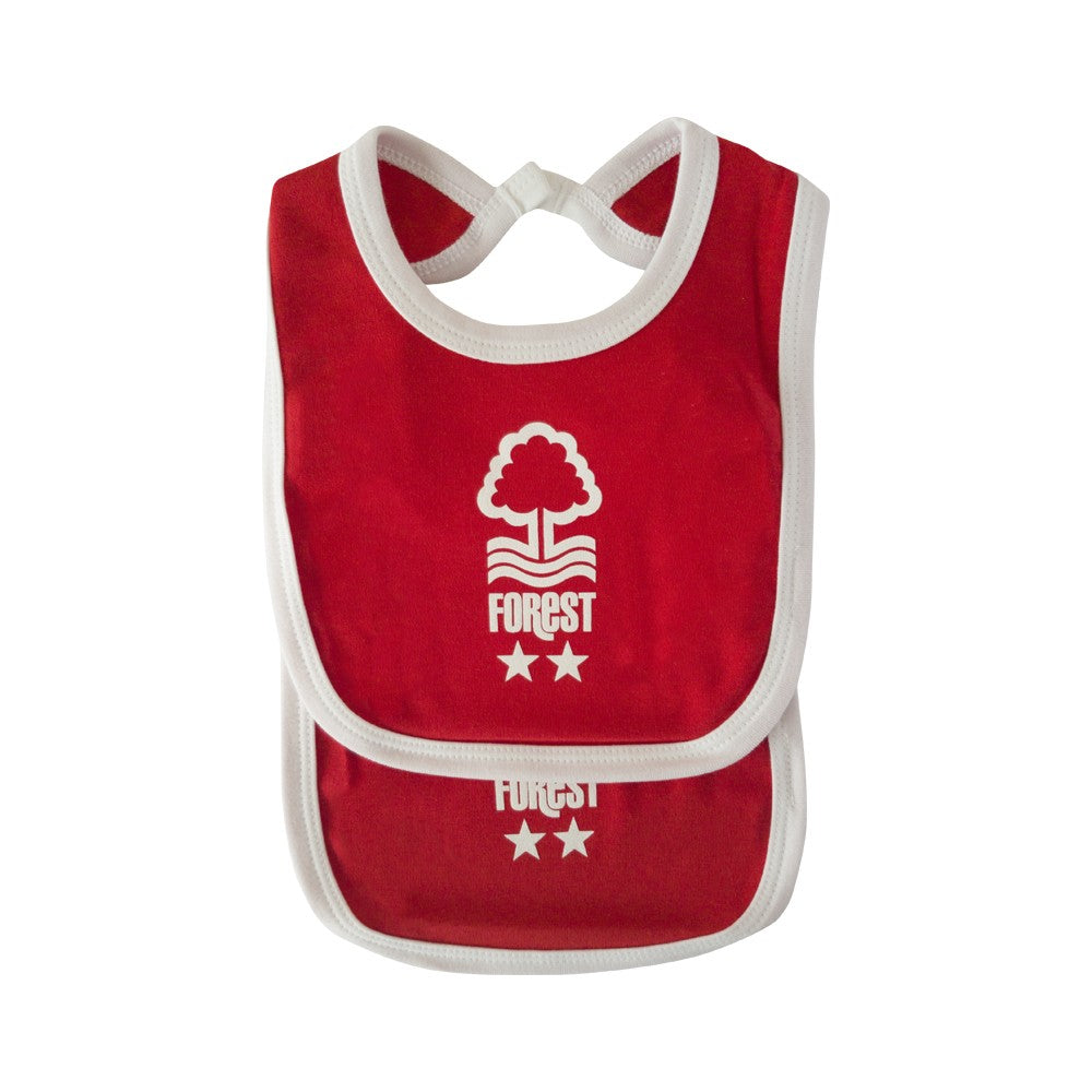 NFFC Baby Red Bibs 2 Pack - Nottingham Forest