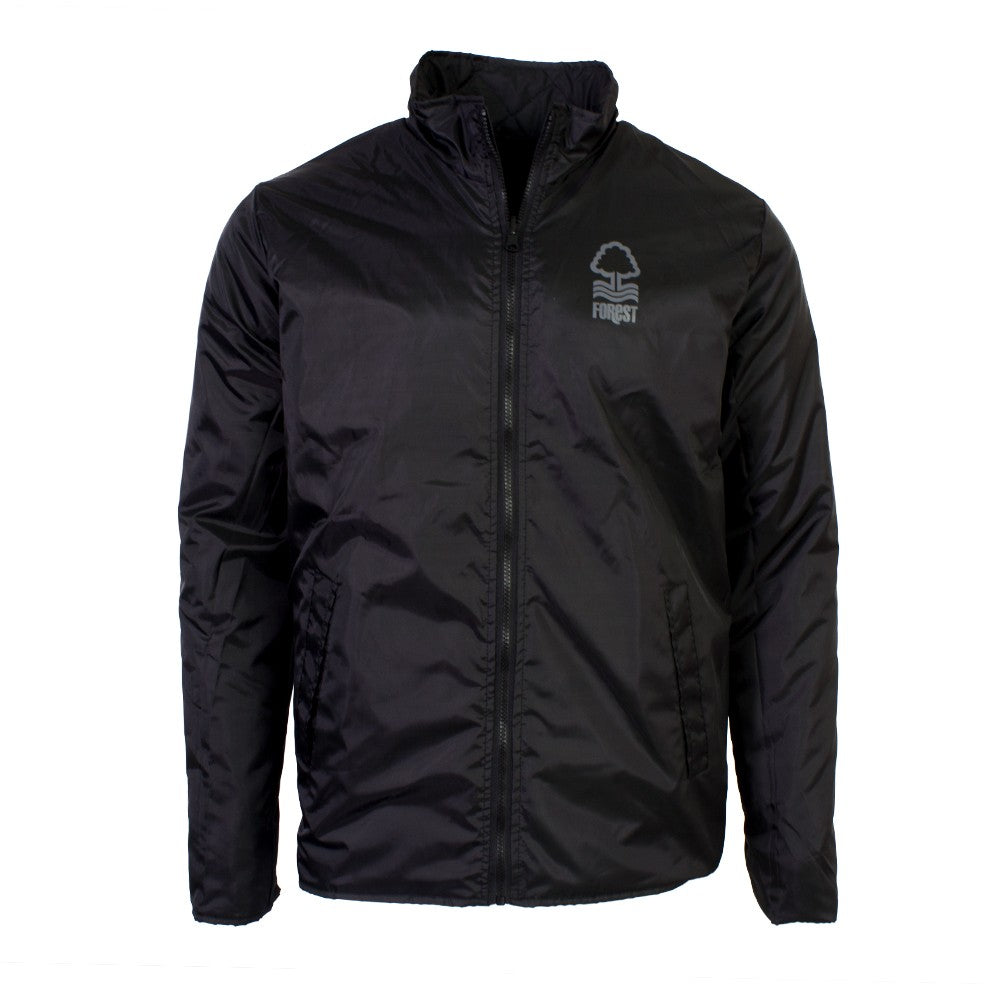 NFFC Mens Black 2 Star Reversible Quilted Jacket - Nottingham Forest